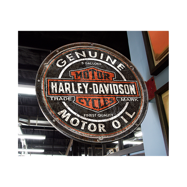 Harley Davidson Bar And Shield >> Harley Davidson Bar And Shield Logo Double Sided Marquee Style Pub Sign